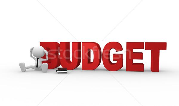 Orçamento 3d pessoas homem pessoa palavra empresário Foto stock © coramax