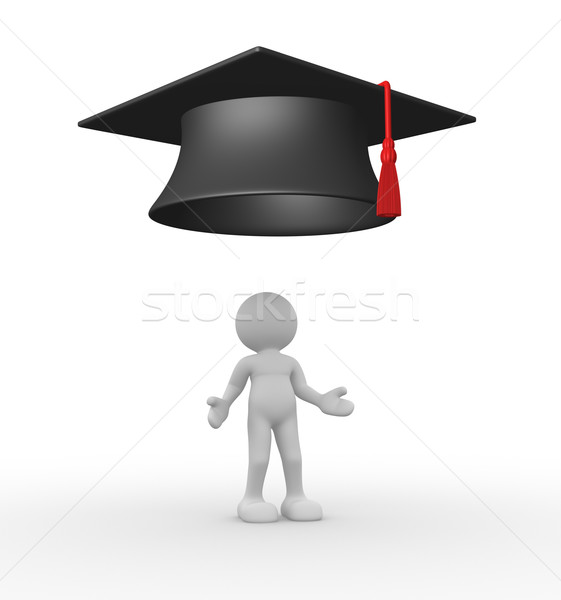 Graduação 3d pessoas humanismo pessoa 3d render Foto stock © coramax