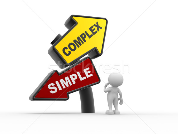 Simple or complex Stock photo © coramax