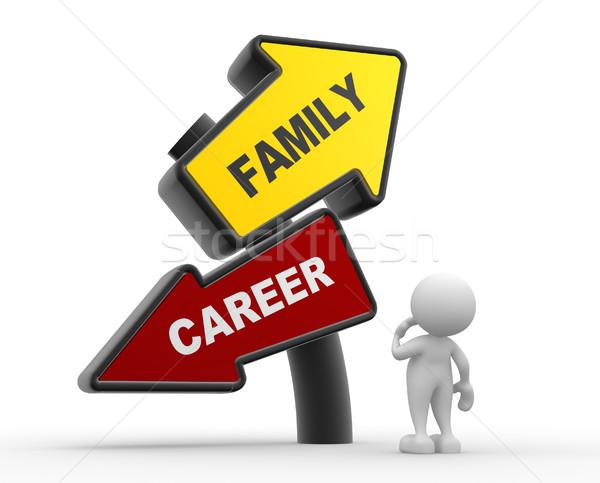 Dirección signo 3d personas hombre persona familia Foto stock © coramax