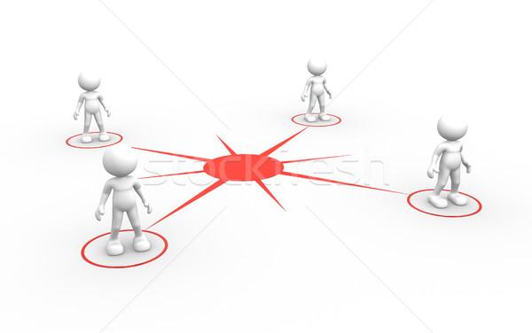 связи 3d люди мужчин человек сеть социальной Сток-фото © coramax