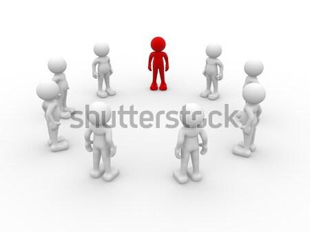 команде 3d люди человека характер человек круга Сток-фото © coramax