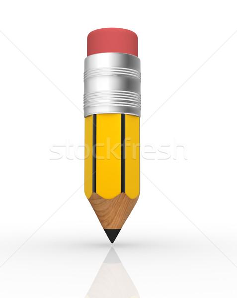 Ceruza fehér 3d render illusztráció absztrakt festék Stock fotó © coramax