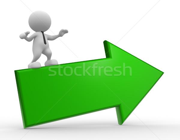 Foto stock: Empresário · 3d · pessoas · homem · pessoa · voador · verde