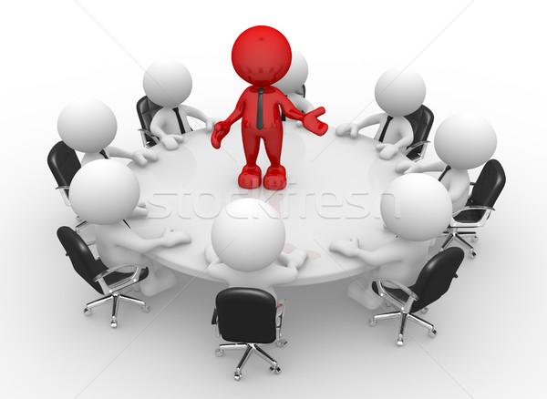 команде 3d люди мужчин человек конференции таблице Сток-фото © coramax