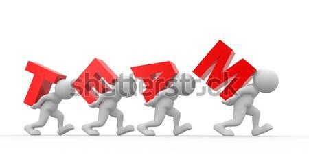 Seta 3d pessoas homens pessoas trabalho em equipe Foto stock © coramax