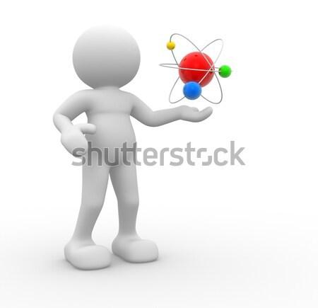 атом 3d люди человека человек структуры бизнесмен Сток-фото © coramax