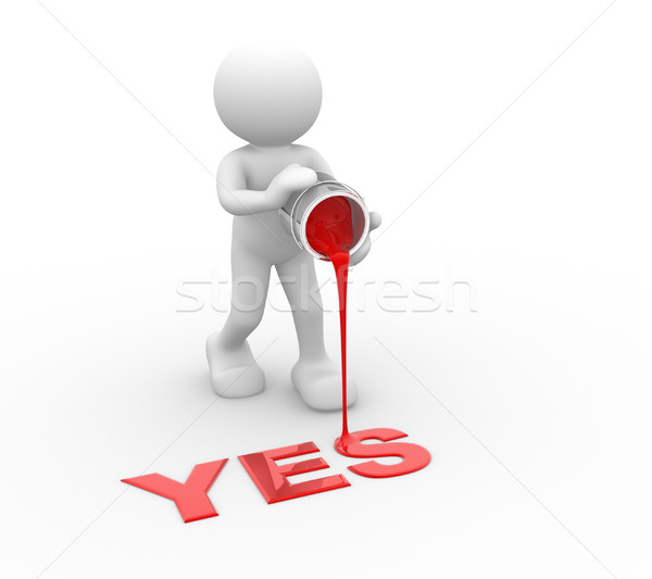 Word'Yes' Stock photo © coramax