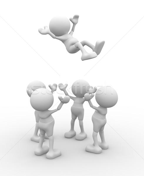 3d osób mężczyzn osoby w górę dziewczyna Zdjęcia stock © coramax