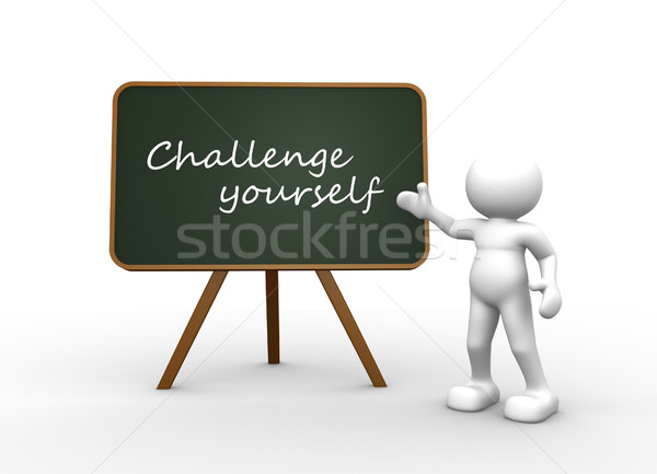 Challenge yourself  Stock photo © coramax