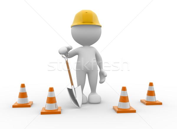 ásó 3d emberek férfi személy forgalom munka Stock fotó © coramax