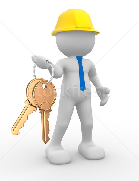 строителя 3d люди человека характер человек Сток-фото © coramax