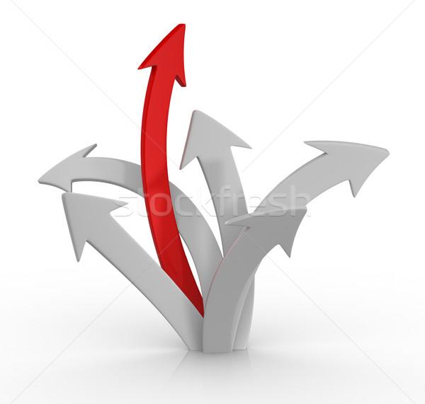 Pijl 3D pijlen omhoog business succes Stockfoto © coramax