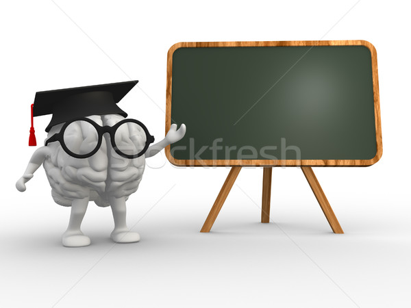 脳 3D 卒業 成功 大学 学習 ストックフォト © coramax