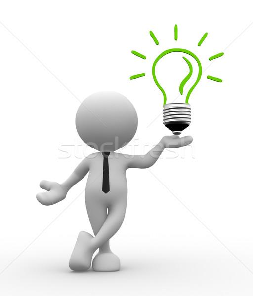 電球 3次元の人々 男 人 エネルギー効率 女性 ストックフォト © coramax