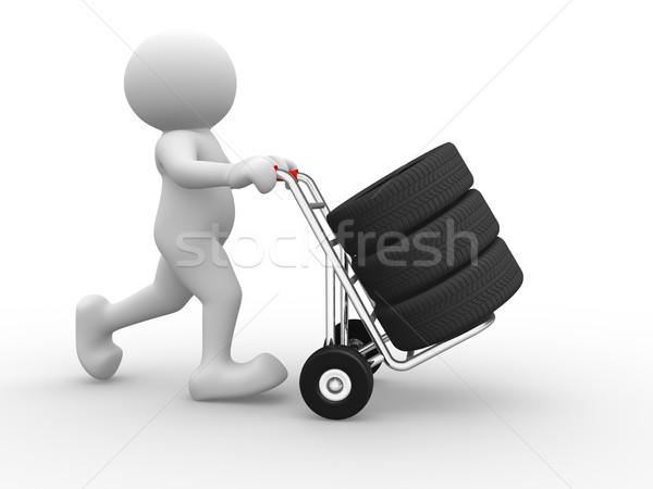 Band hand vrachtwagen 3d mensen man persoon Stockfoto © coramax