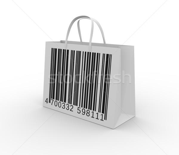 Código de barras bolsa código de barras 3d ilustración fondo Foto stock © coramax