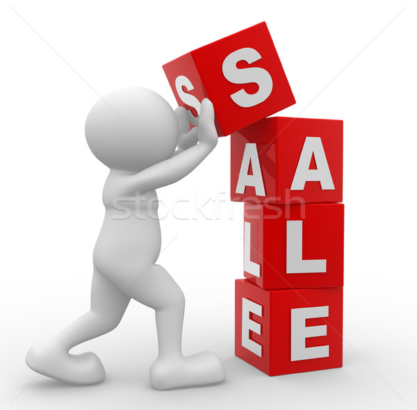 3d mensen man persoon woord verkoop Stockfoto © coramax