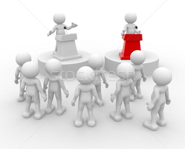 Dyskusji 3d osób ludzi charakter osoby Zdjęcia stock © coramax