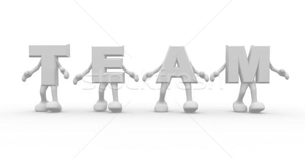 Team 3D gerenderd woord teamwerk business Stockfoto © coramax