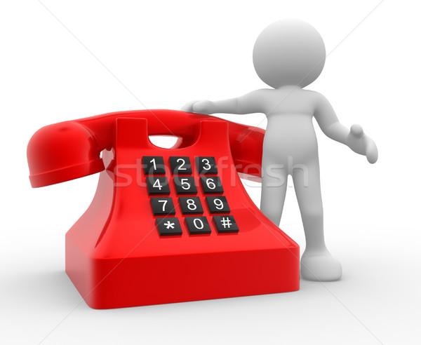 телефон 3d люди человека характер человек связи Сток-фото © coramax