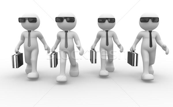 üzletember 3d emberek férfiak személy aktatáska napszemüveg Stock fotó © coramax