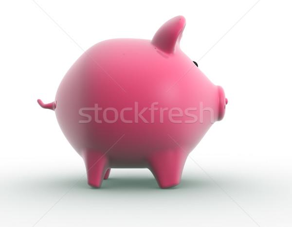 Alcancía 3d dinero economía moneda bancario Foto stock © coramax