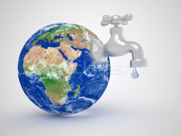 Earth globe and a tap Stock photo © coramax