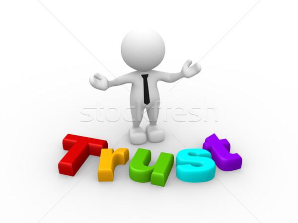 Zaufania 3d osób człowiek osoby słowo zespołu Zdjęcia stock © coramax