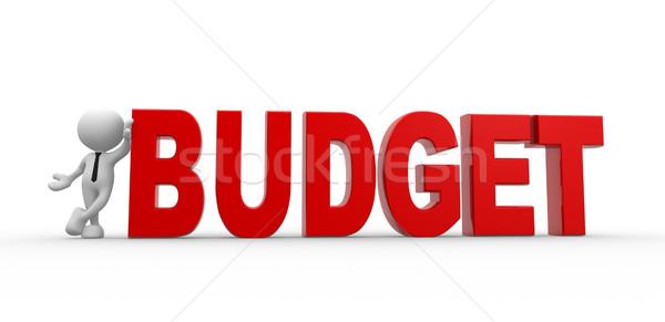 бюджет 3d люди человека человек слово бизнесмен Сток-фото © coramax