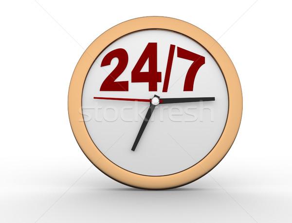 24/7 Clock  Stock photo © coramax