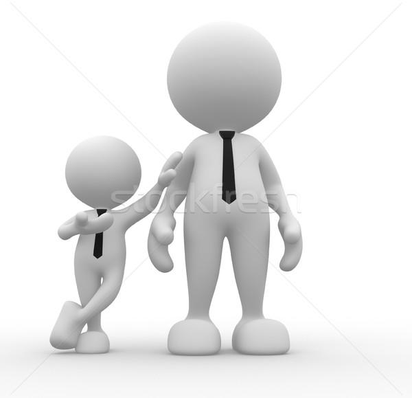 ビジネスマン 3次元の人々 男性 人 一緒に チーム ストックフォト © coramax