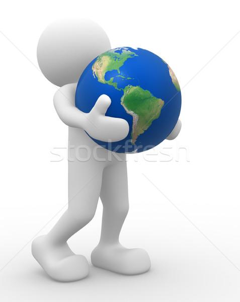 земле мира 3d люди человека характер человек Сток-фото © coramax