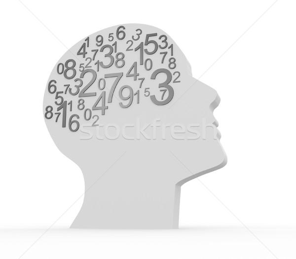 Numery ludzi głowie 3d ilustracja działalności Zdjęcia stock © coramax