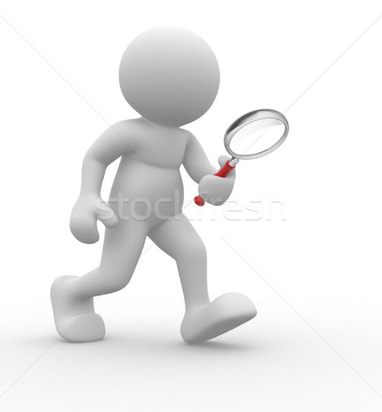 ストックフォト: 3次元の人々 · 人間 · 文字 · 人 · 手
