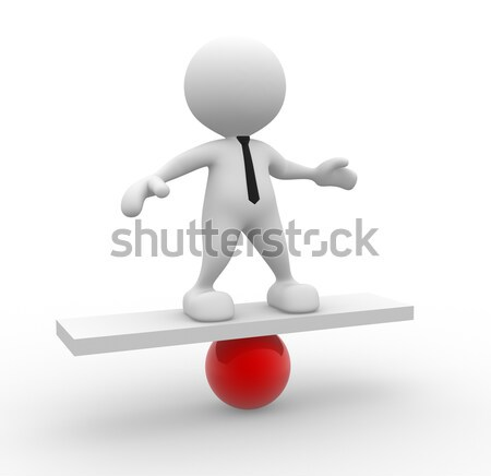 'tax' and 'income' on balance scale  Stock photo © coramax