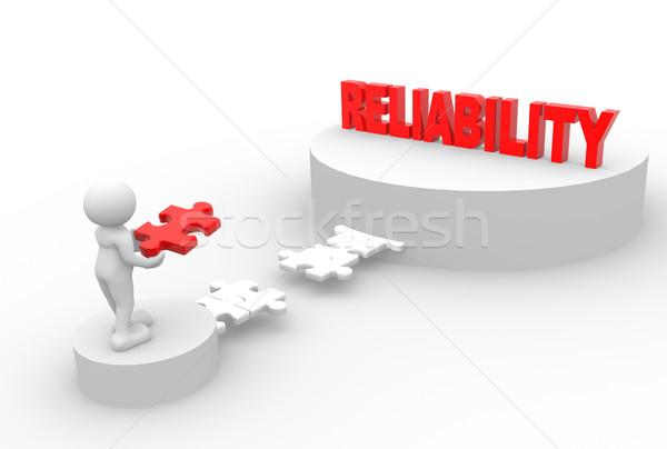 Niezawodność 3d osób człowiek osoby sztuk puzzle Zdjęcia stock © coramax