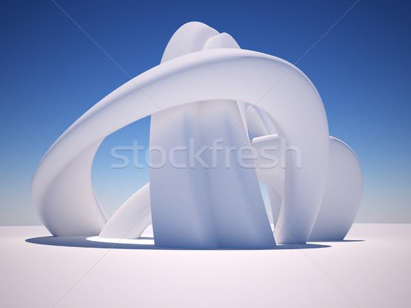 Resumen arquitectura 3D 3d ilustración edificio Foto stock © coramax