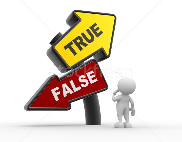 True or false Stock photo © coramax