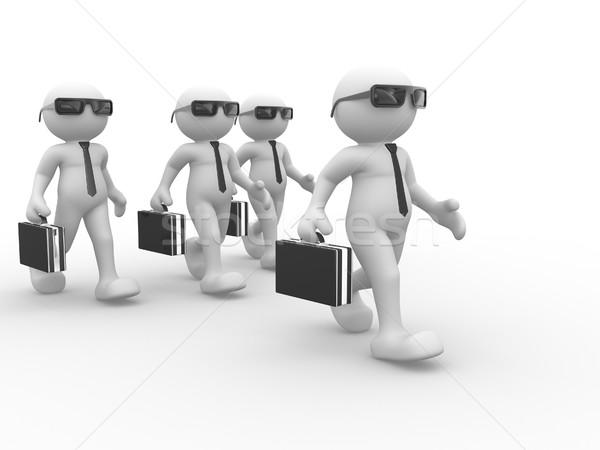 Empresário 3d pessoas humanismo pessoa pasta Foto stock © coramax