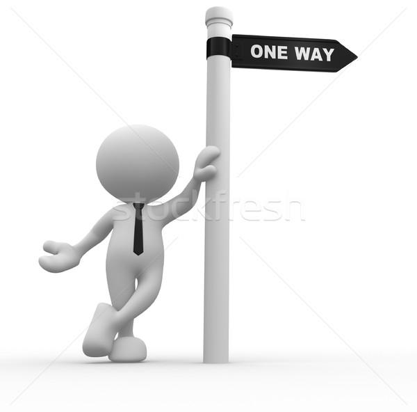 One way Stock photo © coramax