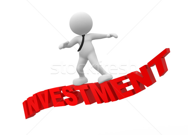 Inversión 3d personas hombre persona vuelo palabra Foto stock © coramax