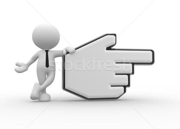 Mão cursor 3d pessoas homem pessoa indicação Foto stock © coramax