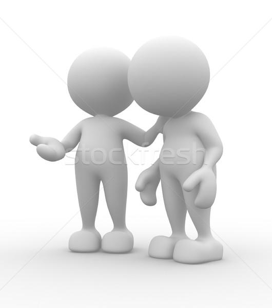 友達 話し 3次元の人々 男性 人 男 ストックフォト © coramax