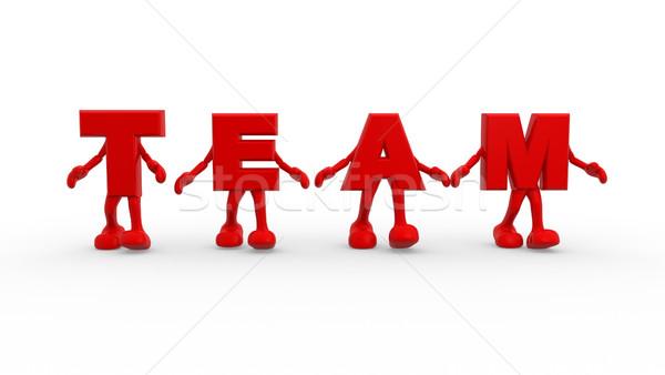 Equipe 3D prestados palavra trabalho em equipe negócio Foto stock © coramax