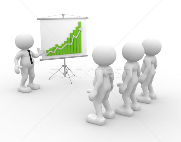 Equipe 3d pessoas homens pessoa financeiro Foto stock © coramax