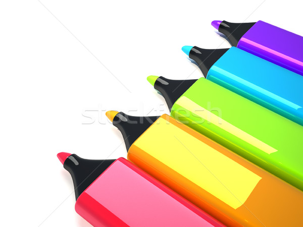 Colorido 3d render ilustração caneta companhia marketing Foto stock © coramax
