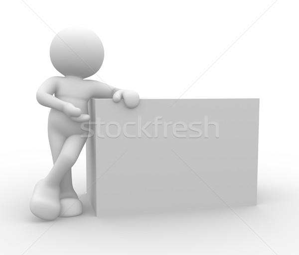 Caixa 3d pessoas humanismo pessoa conselho Foto stock © coramax