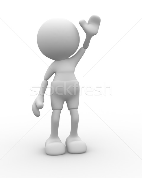 привет 3d люди человека человек бизнеса руки Сток-фото © coramax