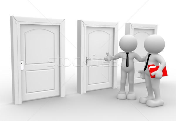 Imprenditore la gente 3d uomini persona cartelle ufficio Foto d'archivio © coramax